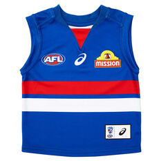 Western Bulldogs 2020 Infants Home Guernsey Blue 0, Blue, rebel_hi-res