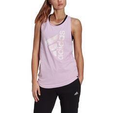 adidas Womens Floral Graphic Tank Pink XS, Pink, rebel_hi-res