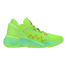 adidas D.O.N. Issue #2 Kids Basketball Shoes Green US 4, Green, rebel_hi-res