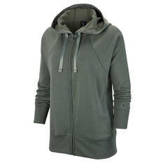 Nike Womens Dri FIT Get Fit Fleece Hoodie Green XS, Green, rebel_hi-res