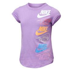 Nike Girls Multi Furtura Tee Purple 4, Purple, rebel_hi-res