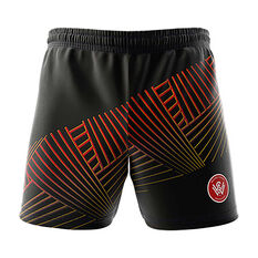 Western Sydney Wanderers 2018/19 Mens  Geo Squad Training Shorts Black S, Black, rebel_hi-res