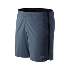 New Balance Mens Accelerate 7in Running Shorts Blue S, , rebel_hi-res
