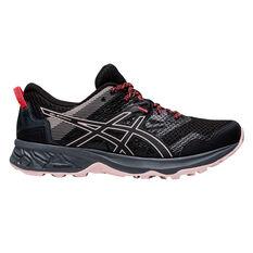 Asics GEL Sonoma 5 Womens Trail Running Shoes Black US 6, Black, rebel_hi-res