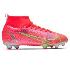 Nike Mercurial Superfly 8 Pro Kids Football Boots Crimson US 4, Crimson, rebel_hi-res
