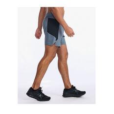 2XU Mens Motion 6inch Shorts, Grey, rebel_hi-res