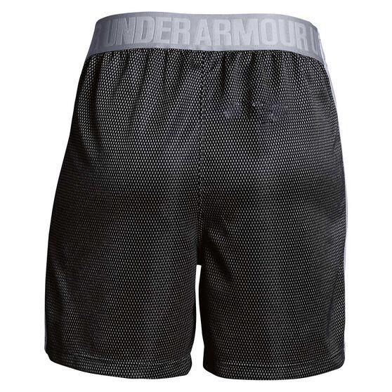 Under Armour Girls Center Spot Training Shorts, Black / Grey, rebel_hi-res