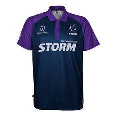 Melbourne Storm 2021 Mens Polo Navy S, Navy, rebel_hi-res