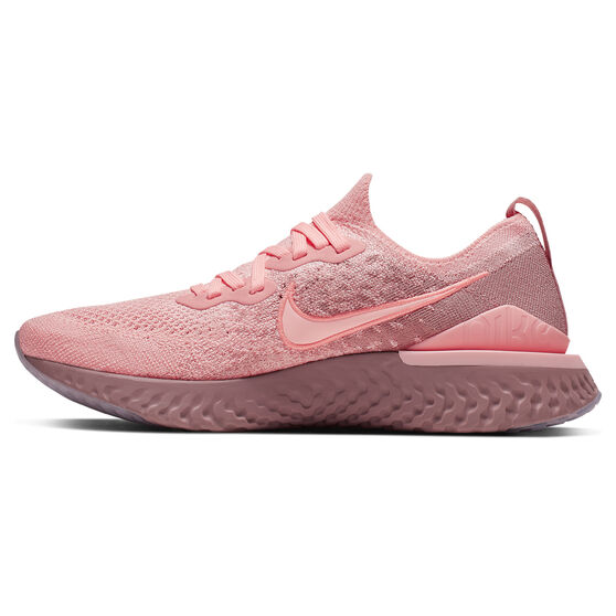 Nike Epic React Flyknit 2 Womens Running Shoes, Pink / Black, rebel_hi-res
