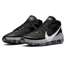 Nike KD13 Mens Basketball Shoes, Black/White, rebel_hi-res