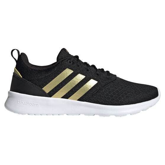 adidas QT Racer 2.0 Womens Casual Shoes, Black/Gold, rebel_hi-res