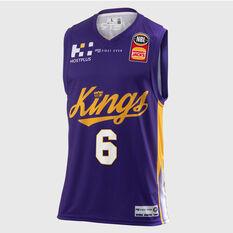 Sydney Kings Andrew Bogut 2018 / 19 Mens Home Jersey Purple S, Purple, rebel_hi-res