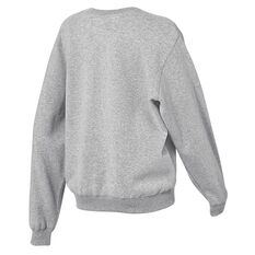 Running Bare Womens Legacy Crew Sweater, Grey, rebel_hi-res