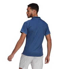 adidas Mens Primeblue Tennis Polo Blue S, Blue, rebel_hi-res