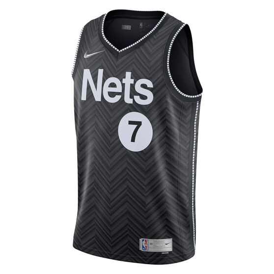 Nike Brooklyn Nets Kevin Durant 2020/21 Mens Earned Jersey, Black, rebel_hi-res