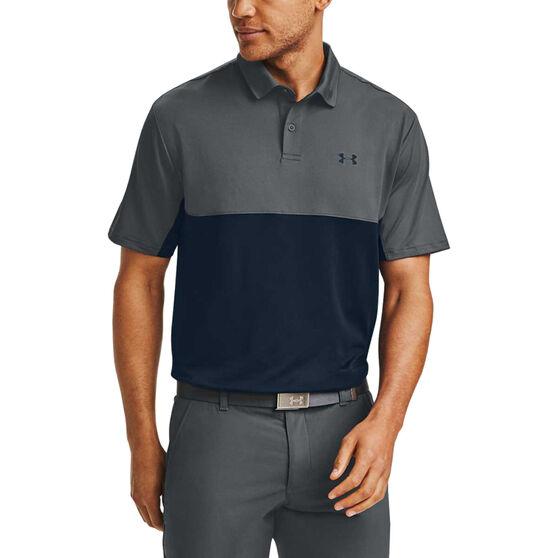 Under Armour Mens Performance 2.0 Polo Shirt, Grey, rebel_hi-res