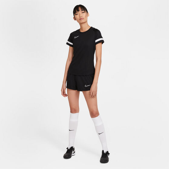 Nike Womens Dri-FIT Academy Soccer Tee, Black, rebel_hi-res