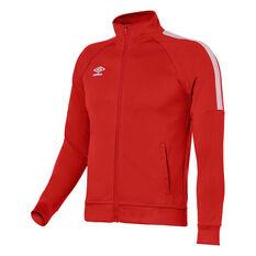 Umbro Teamwear Track Jacket Red / White XS YTH, Red / White, rebel_hi-res
