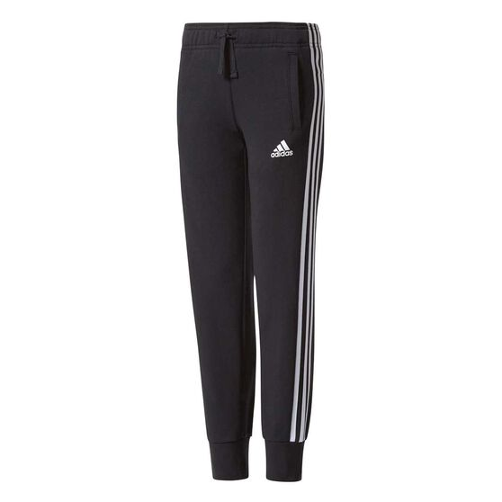 be7f4fd8da87 adidas Girls Essentials 3 Stripes Track Pants Black   White 14 ...