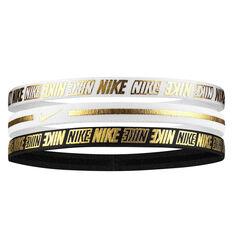 Nike Womens Metallic Headbands 3 Pack, , rebel_hi-res