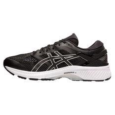 Asics GEL Kayano 26 2E Mens Running Shoes Black / White US 7, Black / White, rebel_hi-res
