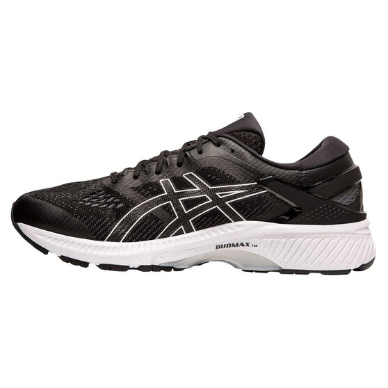 Asics GEL Kayano 26 2E Mens Running Shoes Black / White US 12, Black / White, rebel_hi-res