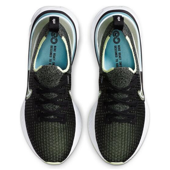 Nike React Infinity Run Flyknit Womens Running Shoes, Black/White, rebel_hi-res