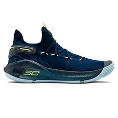 Under Armour Curry 6 Mens Basketball Shoes Black / Blue US 7, , rebel_hi-res