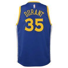 Nike Golden State Warriors Kevin Durant 2019 Kids Swingman Jersey Rush Blue L, Rush Blue, rebel_hi-res