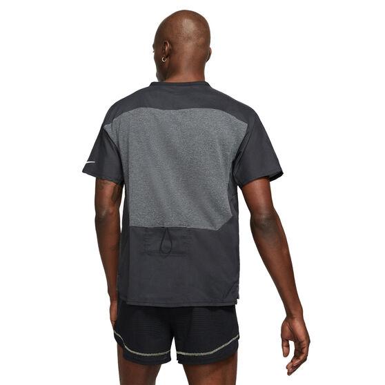 Nike Mens Ultra Run Division TechKnit Tee, Grey, rebel_hi-res