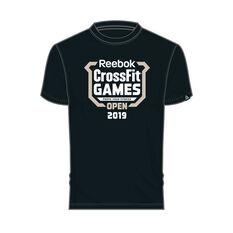 Reebok Mens CrossFit Games Open Crest Tee Black S, Black, rebel_hi-res