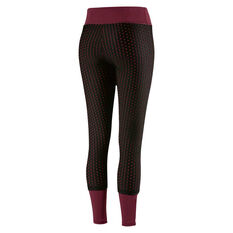 Puma Womens Luxe Mesh Tights Red XS, Red, rebel_hi-res
