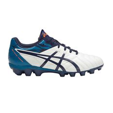 Asics Lethal Tigreor 9 IT Junior Football Boots White / Blue US 1 Junior, White / Blue, rebel_hi-res