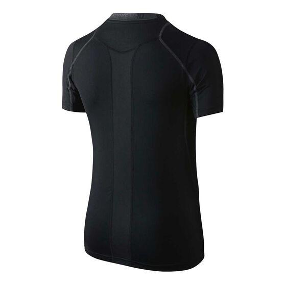 Nike Pro Cool Boys Fitted HBR Top, Black / Grey, rebel_hi-res