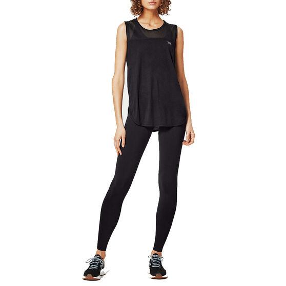 Running Bare Womens High Rise Full Length Tights, Black, rebel_hi-res