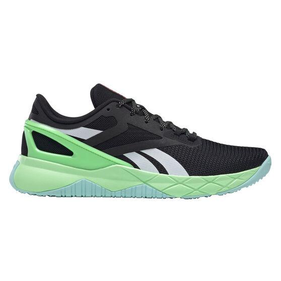 Reebok Nanoflex Mens Training Shoes, Black/Orange, rebel_hi-res