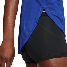 Nike Womens Glam Dunk Running Tank Blue XS, Blue, rebel_hi-res