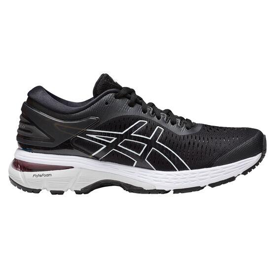 Asics Gel Kayano 25 Womens Running Shoes Black / White US 11, Black / White, rebel_hi-res