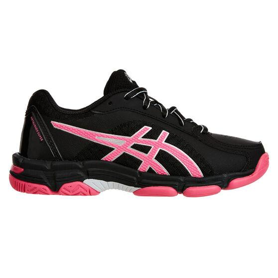 Asics Gel Netburner Super 8 Girls Netball Shoes, Black / Pink, rebel_hi-res