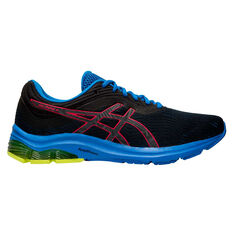 Asics GEL Pulse 11 Liteshow 2.0 Mens Running Shoes Black / Pink US 7, Black / Pink, rebel_hi-res
