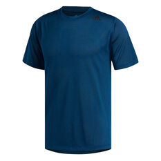 adidas Mens FreeLift Fitted Climacool Training Tee Blue S, Blue, rebel_hi-res