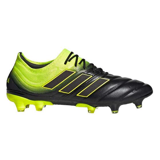 adidas Copa 19.1 Mens Football Boots, Black / Yellow, rebel_hi-res