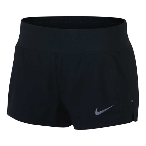 Nike Womens Eclipse 3in Running Shorts Black / Silver XL, Black / Silver, rebel_hi-res