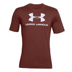 Under Armour Mens Sportstyle Logo Tee Red XS, Red, rebel_hi-res
