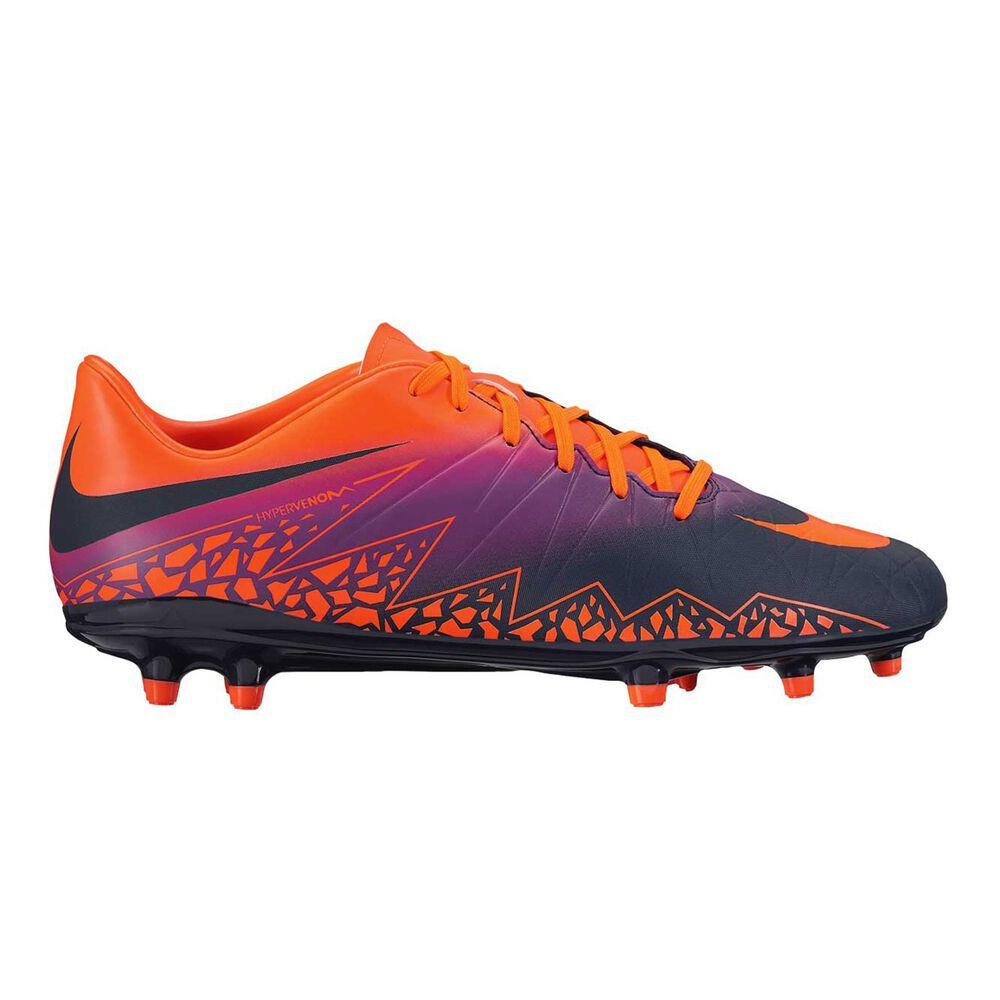 085a0e5eeb28 Nike Hypervenom Phelon II Mens Football Boots Purple   Orange US 9 Adult