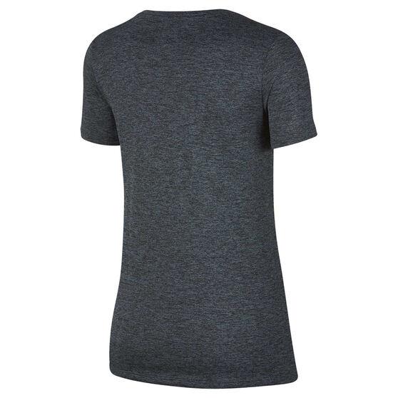 Nike Womens Dry Training Tee Black XS, Black, rebel_hi-res