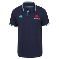 NSW Waratahs 2018 Mens Solid Dye Polo Navy S, Navy, rebel_hi-res
