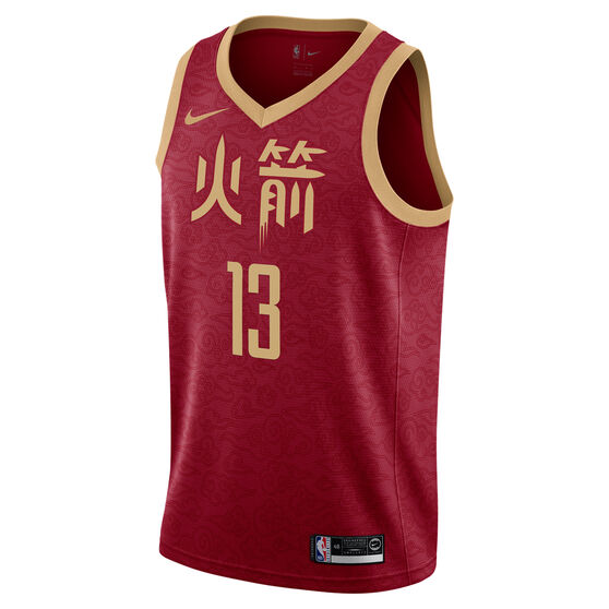 best service e1880 3aaff Nike Houston Rockets James Harden 2019 Mens City Jersey ...