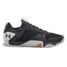 Under Armour Tribase Reign 2.0 Mens Training Shoes Black/Grey US 7, Black/Grey, rebel_hi-res