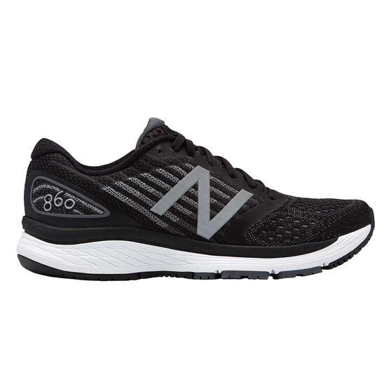 New Balance 860v9 Womens Running Shoes Black US 6, Black, rebel_hi-res